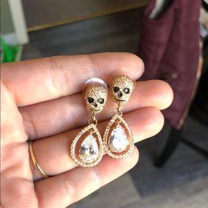 Betsy Johnson Skull Diamond Earrings